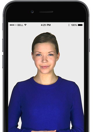 Intelligent Virtual Assistant Human Avatar on iPhone