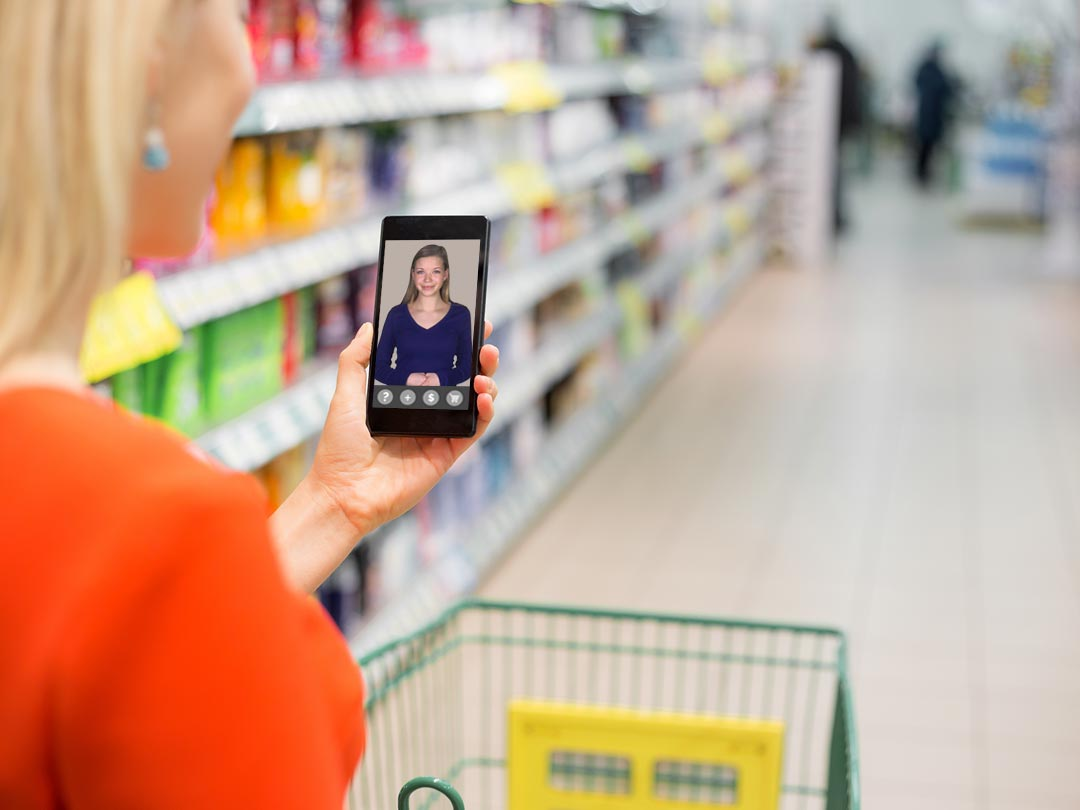Boosting In-Store Retail Sales with a Human Avatar Virtual Shopping Assistant